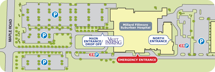 Facility Map Millard Fillmore Suburban Hospital A