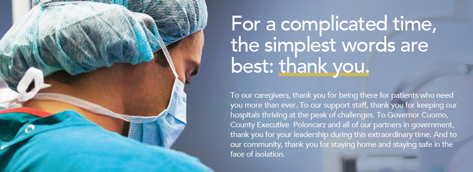 For a complicated time, the simplest words are best: thank you.