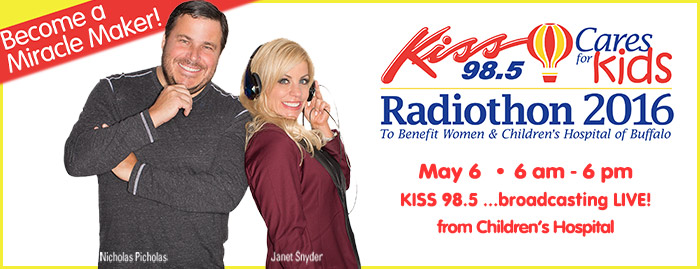 Kiss 98.5 Cares for Kids Radiothon
