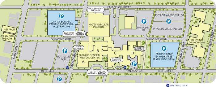 Parking and Facility Map  Gates Vascular Institute  A