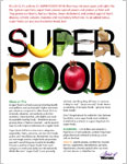 Super Food  Fact Sheet