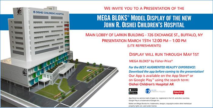 Fisher-Price® MEGA BLOKS® Model of New Oishei Hospital Unveiled to