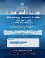 Medical/Dental Semiannual Meeting flyer