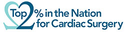 Top 2% in the Nation for Cardiac Surgery