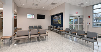 Waiting room at the Emergency Center