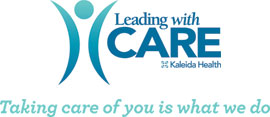 Leading with care logo and tagline - Taking care of you is what we do