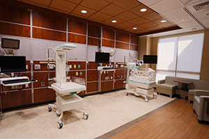 Millard Fillmore Suburban Hospital Neonatal Intensive Care Unit twin patient room image