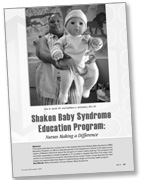 MCN journal article on the Upstate New York Shaken Baby Syndrome Education Program