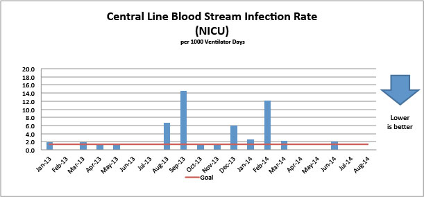 Central Line Blood Stream Infection Rate (NICU)